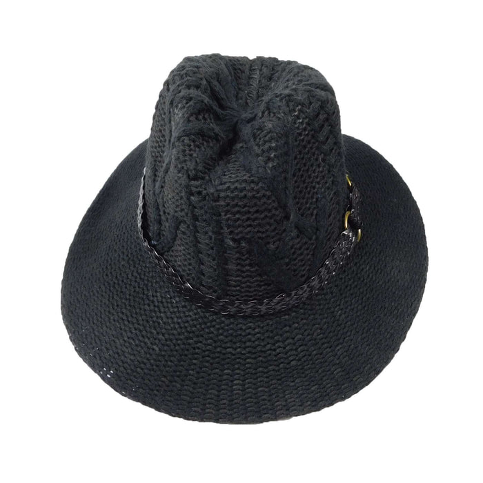 Cable Knit Floppy Fedora - SetarTrading Hats
