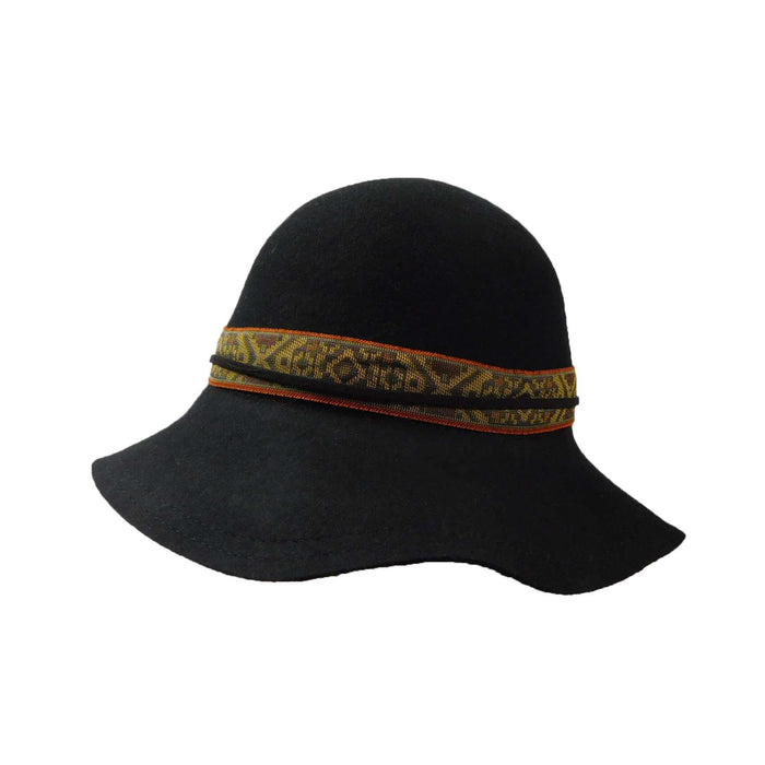 Small Brim Floppy with Southwest Motif Band - SetarTrading Hats