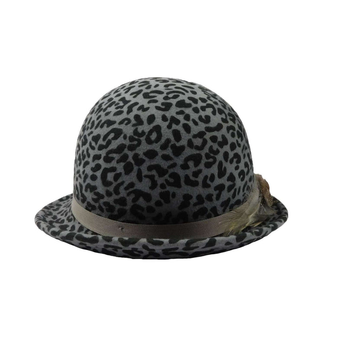 Grey Cheetah Cloche - SetarTrading Hats