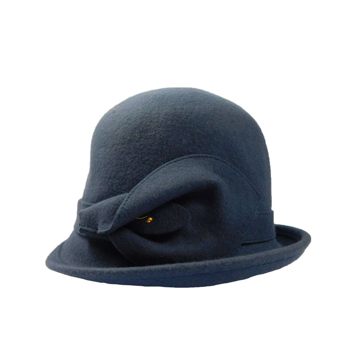 Wool Felt Cloche with Lily Accent - SetarTrading Hats