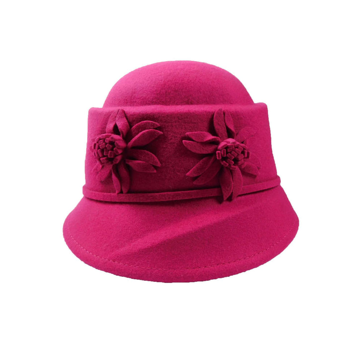 Structured Cloche-Fuchsia - SetarTrading Hats