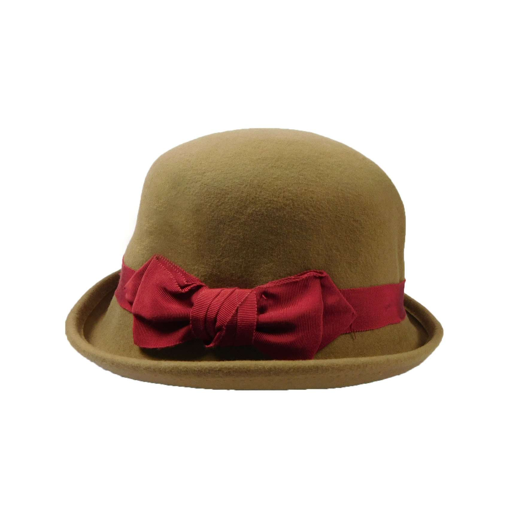Bowler with Red Satin Bow - SetarTrading Hats