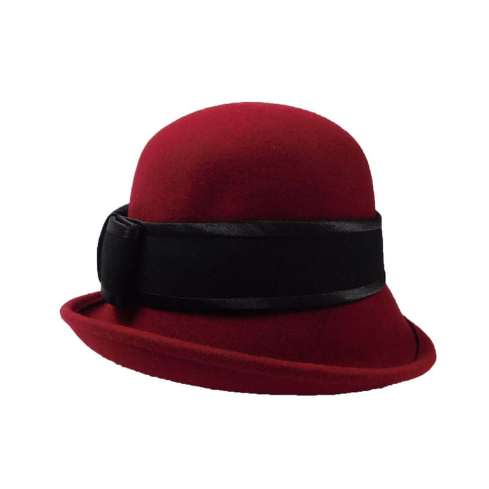 Curled Brim Cloche with Wide Band - SetarTrading Hats