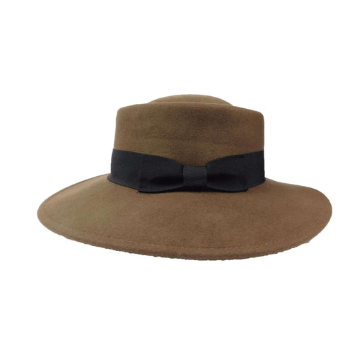 Wool Felt Bolero -Tan and Brown - SetarTrading Hats