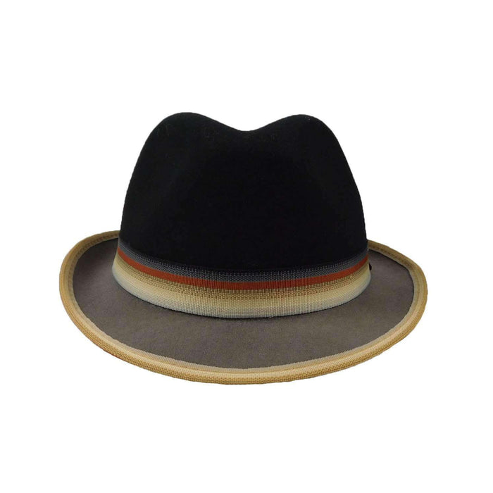 Stingy Brim Two Tone Trilby by Scala - SetarTrading Hats