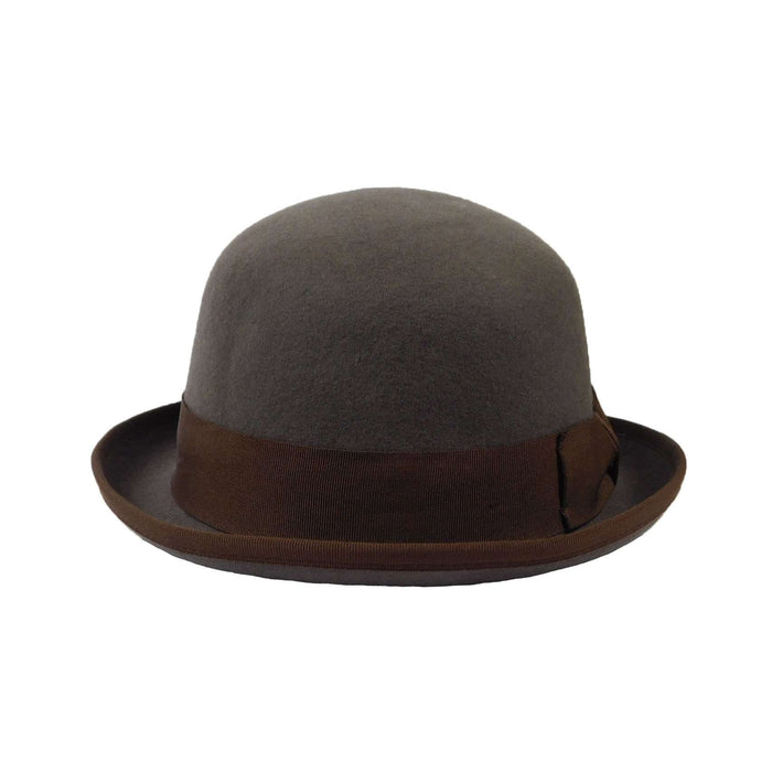 Classic Grey Wool Felt Bowler Hat by JSA for Men - SetarTrading Hats