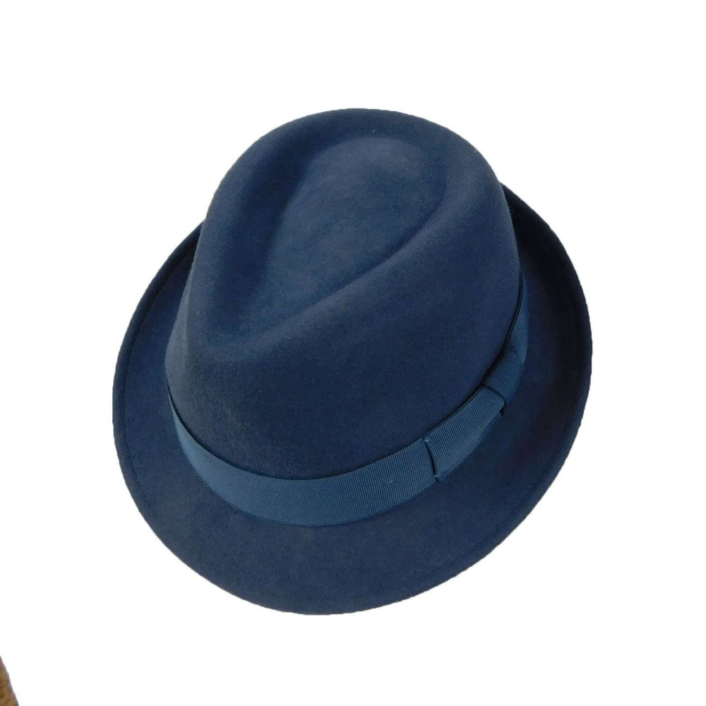 Wool Felt Fedora- Smokey Blue - SetarTrading Hats