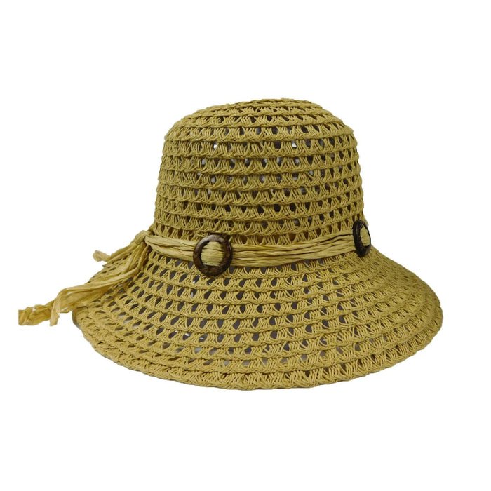 Crochet Straw Big Brim Hat - SetarTrading Hats