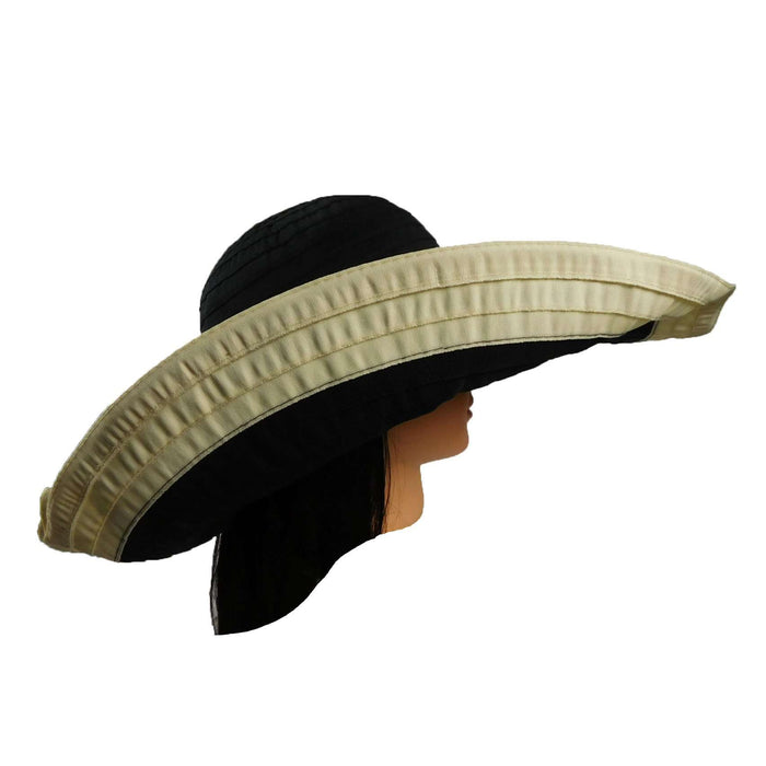 Ribbon Hat with Extra Large Wired Brim - SetarTrading Hats