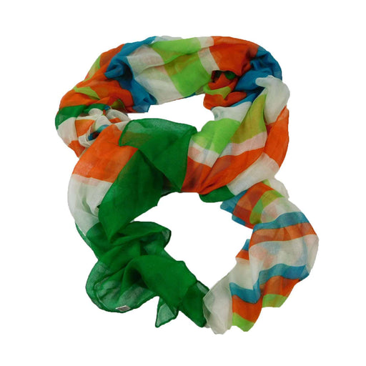 Orange-Green-Blue Striped Scarf - SetarTrading Hats
