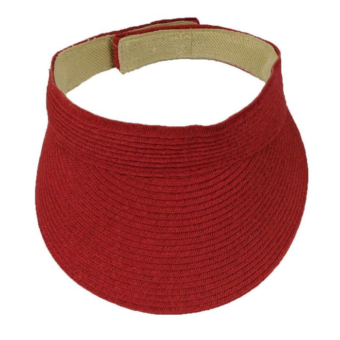 Solid Color Straw Sun Visor