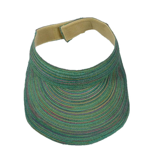 Multicolor Polybraid Sun Visor by JSA for Women - SetarTrading Hats