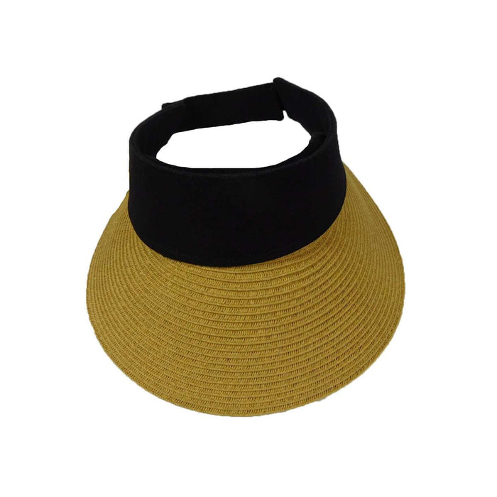 Straw Visor with Canvas Band - SetarTrading Hats