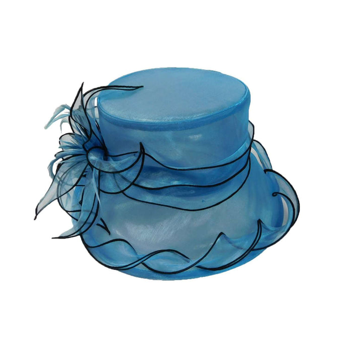 Organza Hat with Twisted Ribbon - SetarTrading Hats