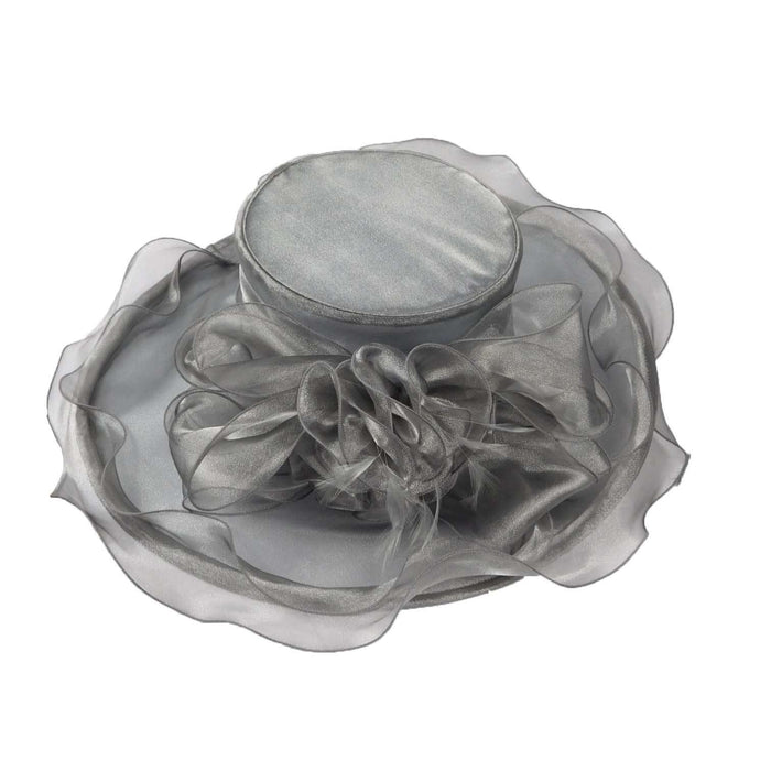 Sheer Satin Organza Hat with Ruffled Edge - SetarTrading Hats