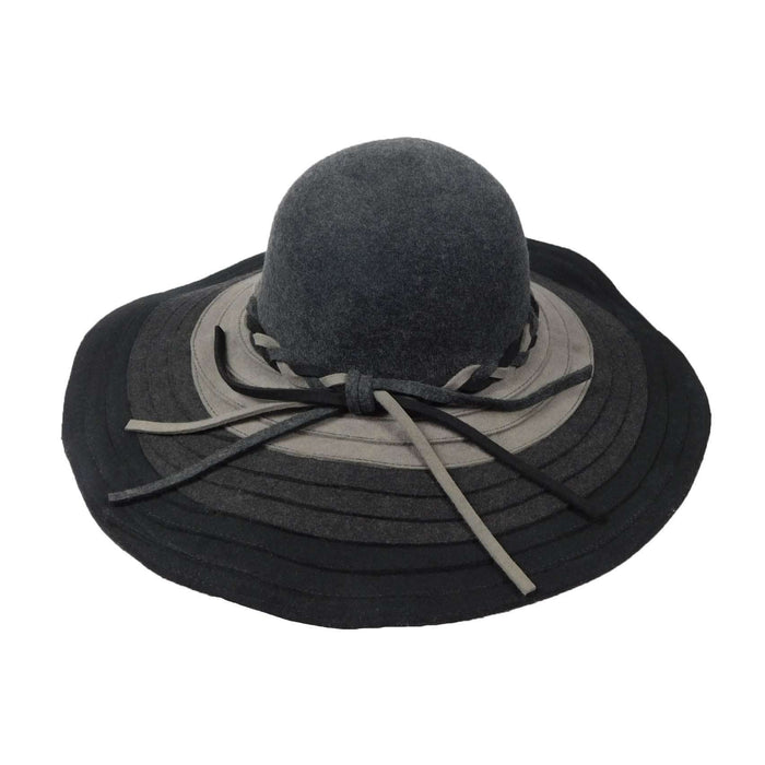 Three Tone Wool Felt Floppy - SetarTrading Hats