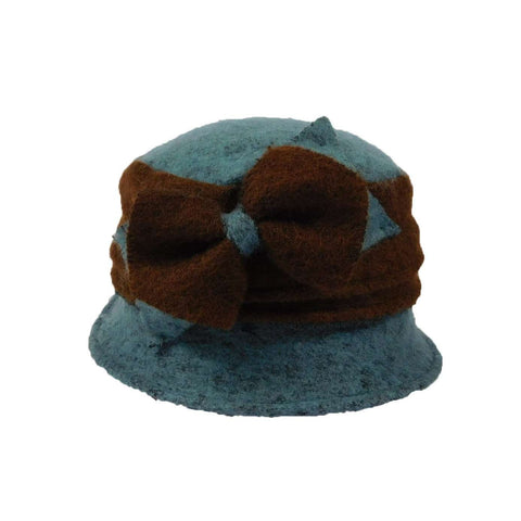 Little Two Tone Cloche with Bow