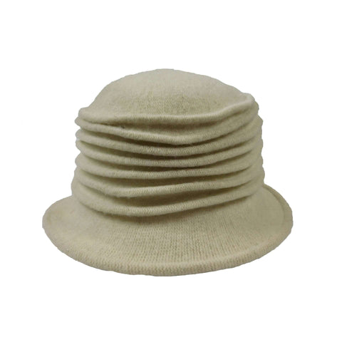 Accordion Boiled Wool Cloche