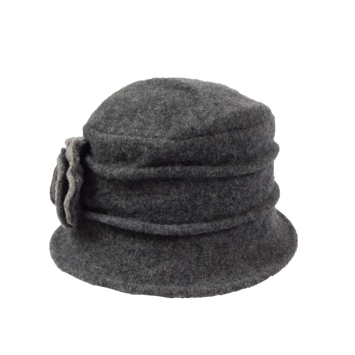 Boiled Wool Pleated Hat - SetarTrading Hats
