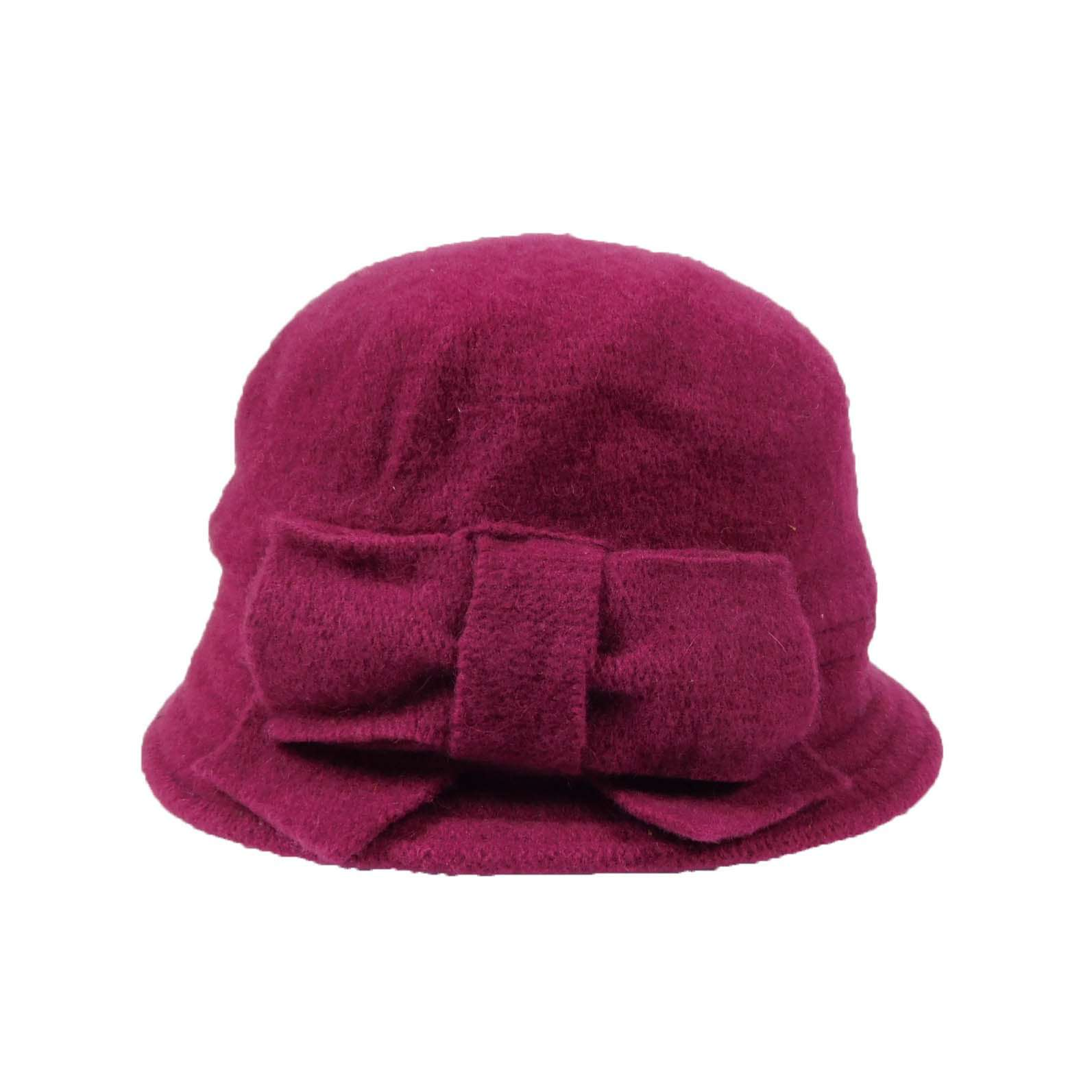 Boiled Wool Beanie with Bow - SetarTrading Hats