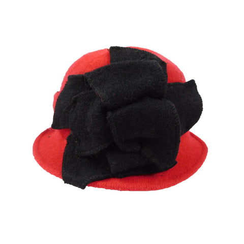 Two Tone Boiled Wool Cloche