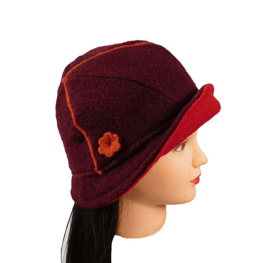 Upturned Brim Boiled Wool Hat - SetarTrading Hats