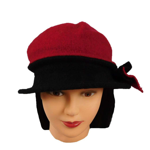 Red and Black Hat with Bow - SetarTrading Hats
