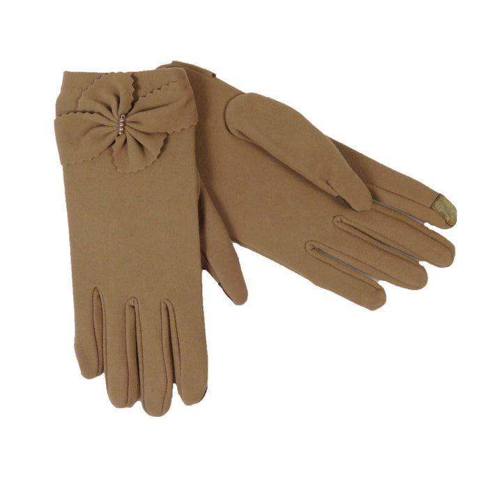 Beige Texting Gloves - SetarTrading Hats