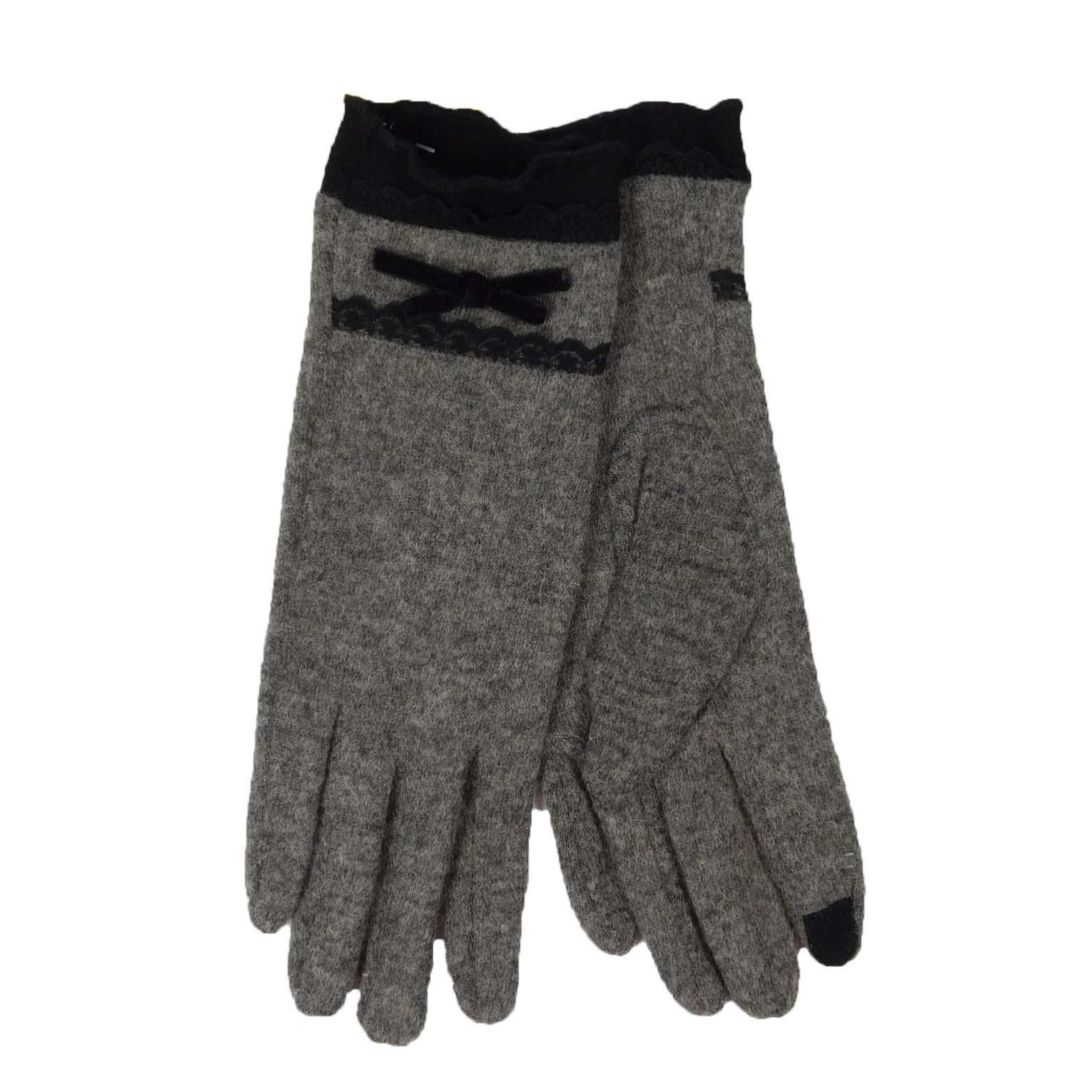 Lace Trim Texting Gloves - SetarTrading Hats