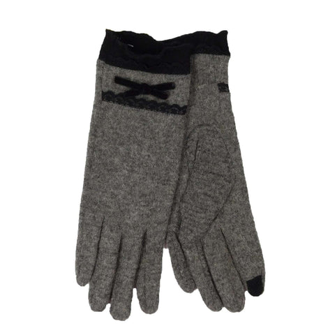 Lace Trim Texting Gloves