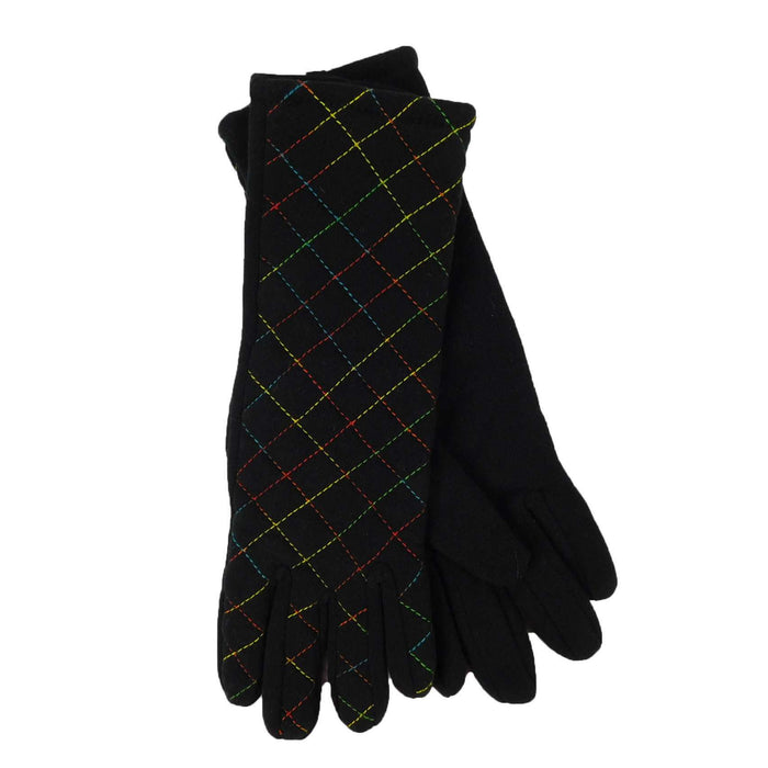 Criss-Cross Pattern Long Gloves - SetarTrading Hats