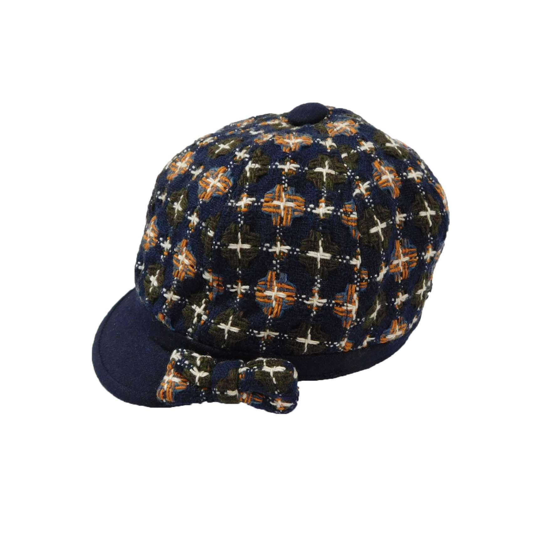 Navy Cap with Bow - SetarTrading Hats