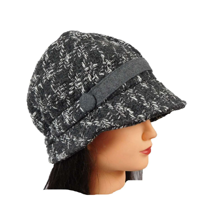 Wool Blend Brim Cloche - SetarTrading Hats