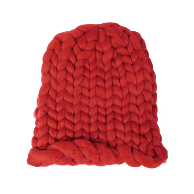Chunky Rib-Knit Beanie - Red, Winter White, Grey - SetarTrading Hats