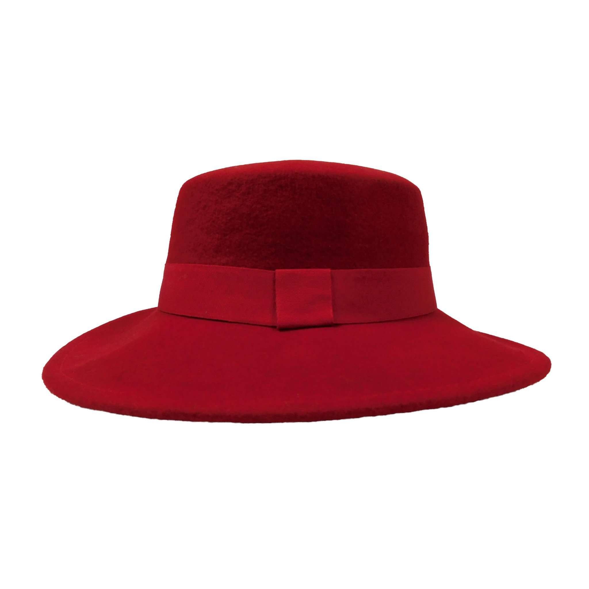 Red Wool Felt Bolero Hat by JSA for Women - SetarTrading Hats