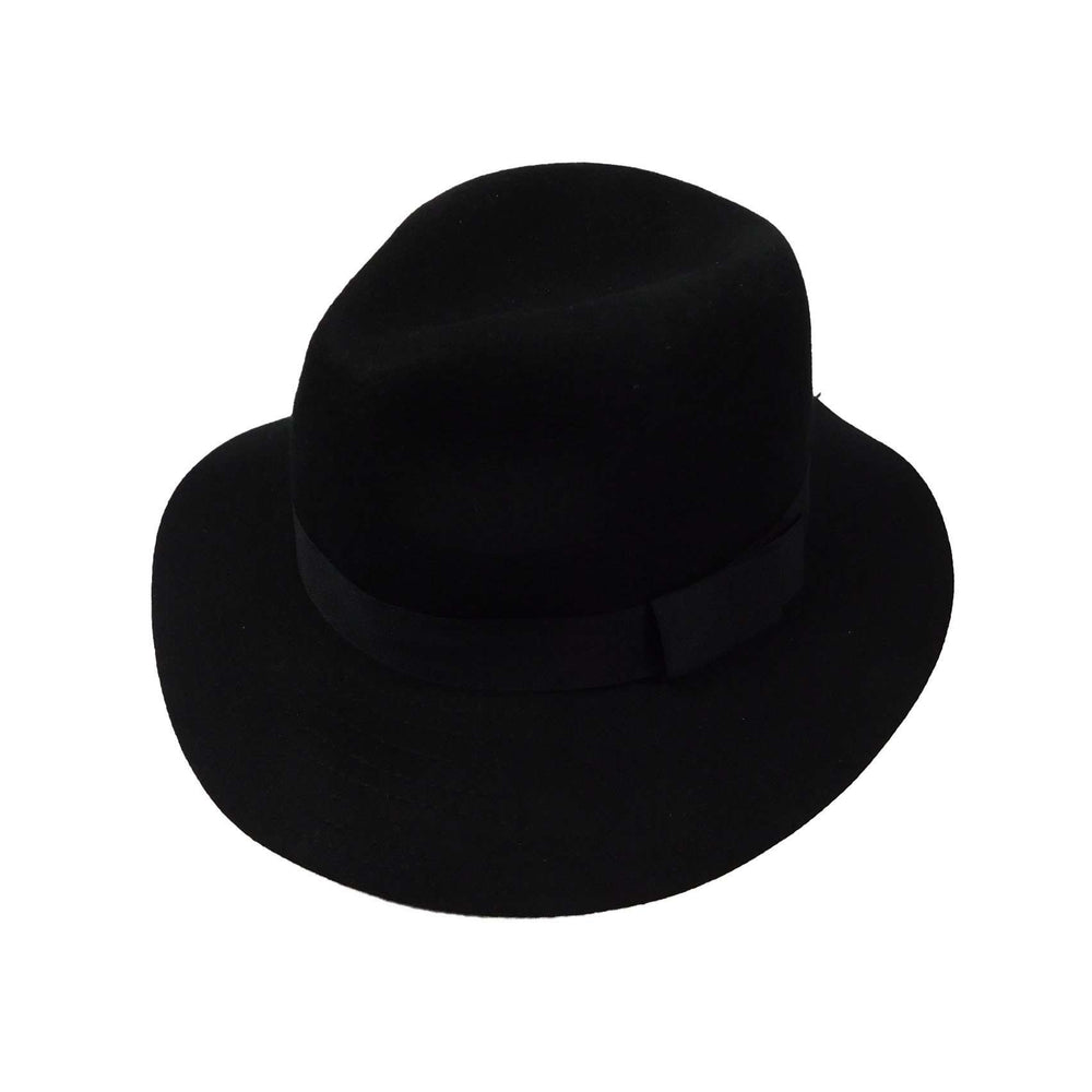 Floppy Wool Felt Fedora Hat by JSA -Black - SetarTrading Hats