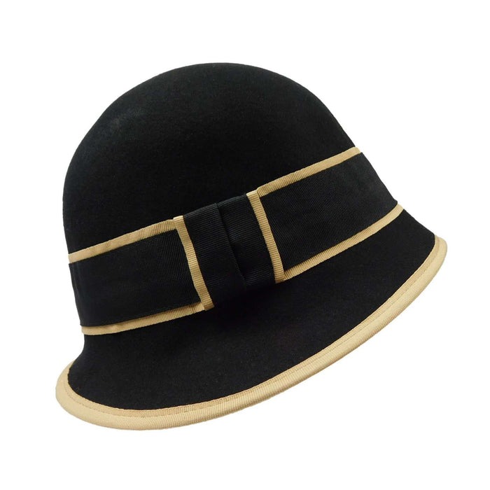 Slanted Brim Cloche -Black - SetarTrading Hats