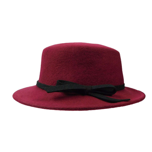 Small Brim Bolero Style Wool Felt Hat by JSA for Women - SetarTrading Hats