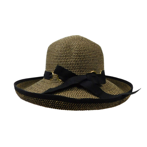 Elegant Kettle Brim with Looped Ribbon Band - SetarTrading Hats