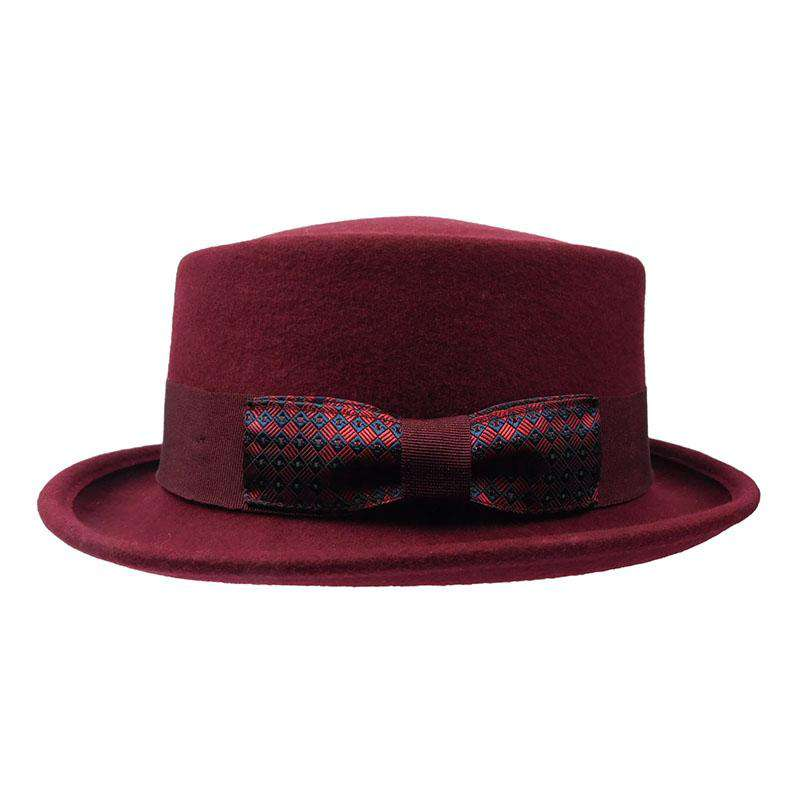 Gambler - Heisenberg Wool Felt Burgundy by JSA for Men - Large - SetarTrading Hats