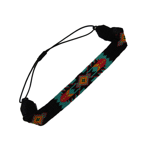 Beaded Tribal Design Head Band - SetarTrading Hats