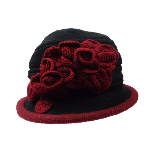 Wool Bucket Hat with Crochet Flower - SetarTrading Hats