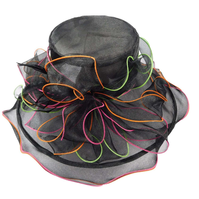 Black Organza with Bright Edges - SetarTrading Hats