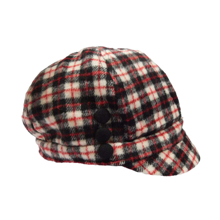 Plaid Wool Fleece Cap - SetarTrading Hats