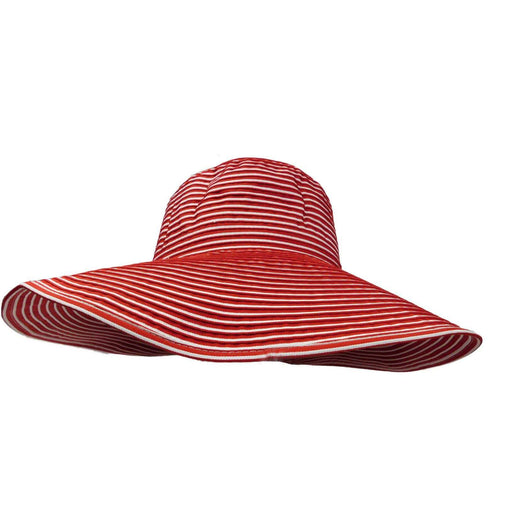 Striped Large Brim Sun Hat by Scala - SetarTrading Hats