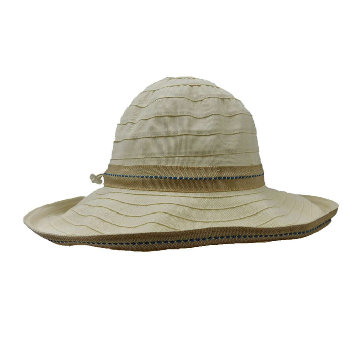 Lightweight Kettle Brim Sewn Ribbon Hat with Toggle by Scala - SetarTrading Hats