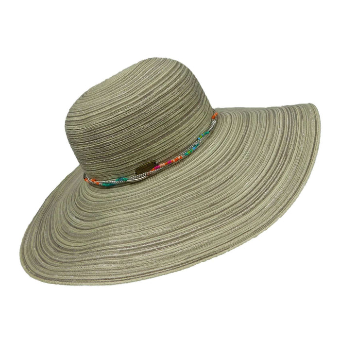 Floppy Hat with Bead and Chain Band - SetarTrading Hats