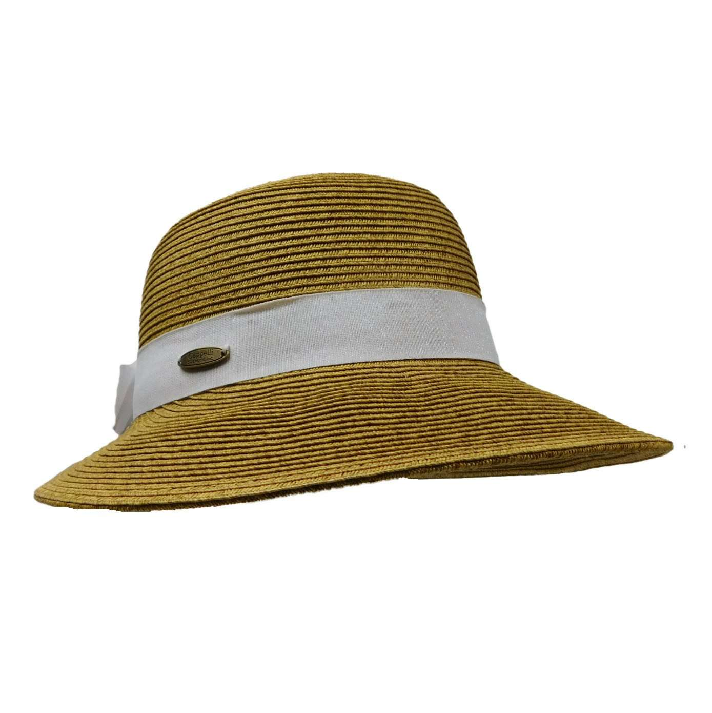 Sun Hat with Iridescent Ribbon Band - SetarTrading Hats