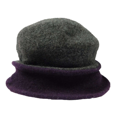 Two Tone Boiled Wool Little Cloche Beanie Hat by JSA for Women - SetarTrading Hats