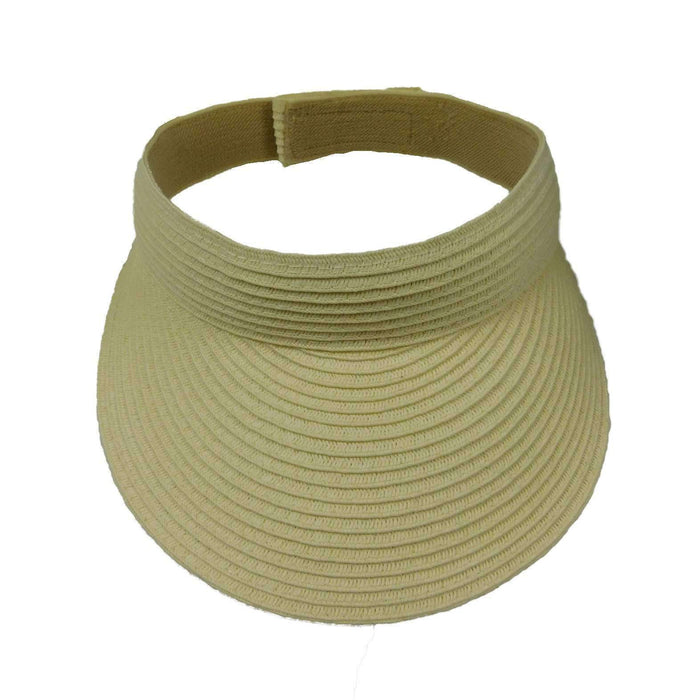Solid Color Straw Sun Visor - SetarTrading Hats